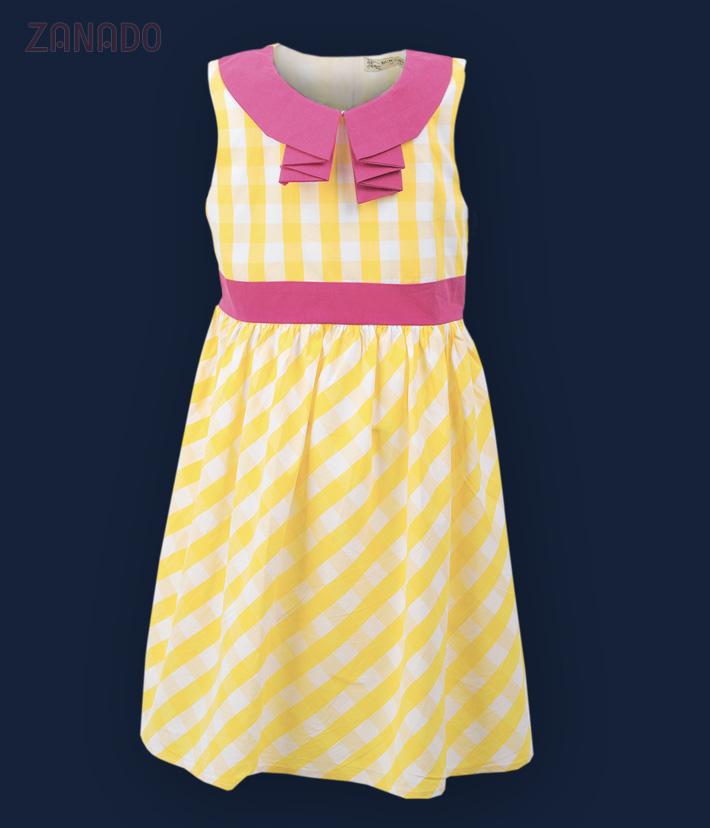 Đầm cổ sơ mi dễ thương cho bé - 1