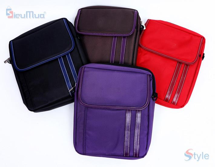 Túi đeo chéo iPad phối sọc - 8