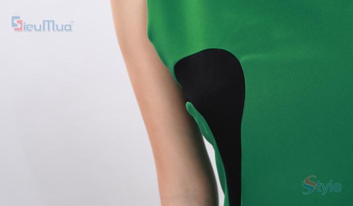 Đầm kiểu nữ pha đường cong đen D&N - 3