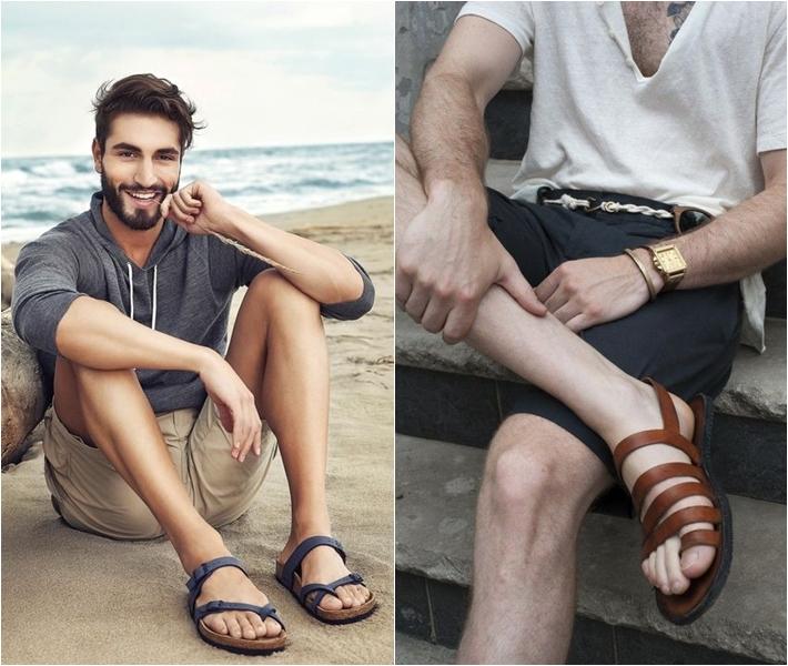 """Bật mí cách diện sandal và dép nam cực """"chuẩn"""" - 1"""